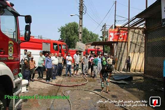 اعزام تیم های آتش نشانی رشت در پی آتش سوزی فوق سنگین در نم نم آباد کوچصفهان/به روایت تصویر