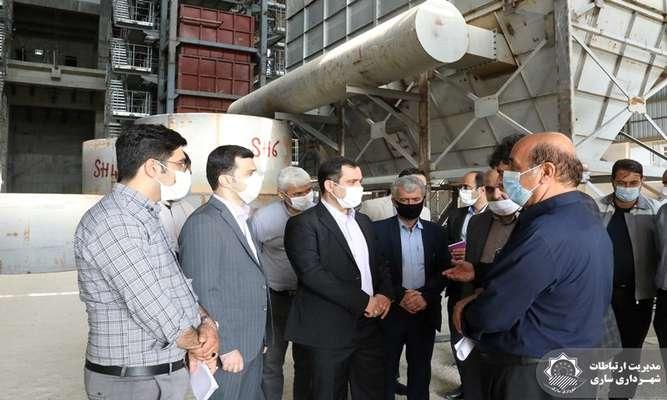 بازدید شهردار ساری از روند پیشرفت نیروگاه زباله سوز