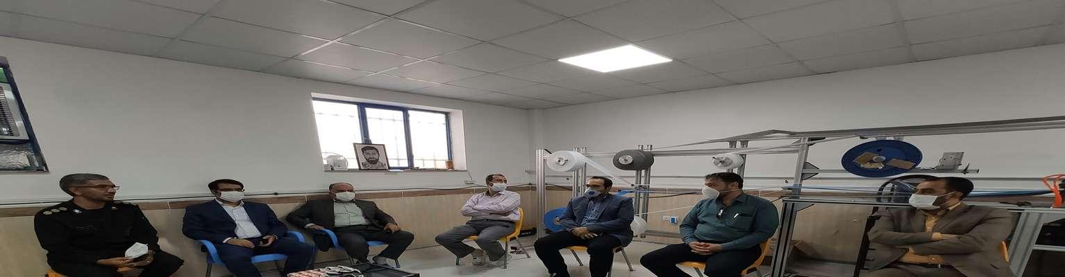 بازدید از کارگاه تولید ماسک استان همدان
