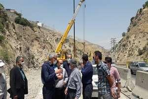 هفته دولت زمان بهره برداری از پل گلوکان در محدوده لواسان