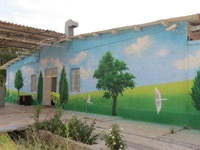 نقاشی دیواری بر روی دیوار های ساختمان بهزیستی 72 تن اجرا شد