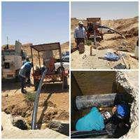 اصلاح شبکه و شکستگی های خط انتقال آب شهر آغاجاری برطرف شد