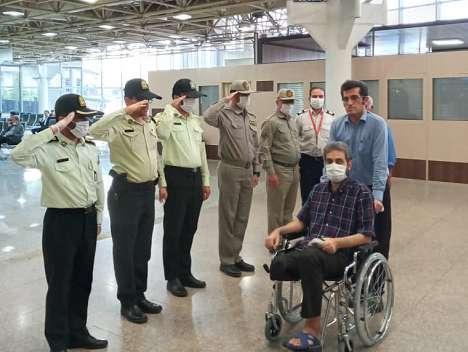 محیط بان جانباز سید امین هادی پور به خوزستان بازگشت