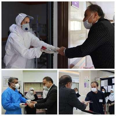 تقدیر شهردار شاهروداز کادر درمانی بیمارستان امام حسین(ع)