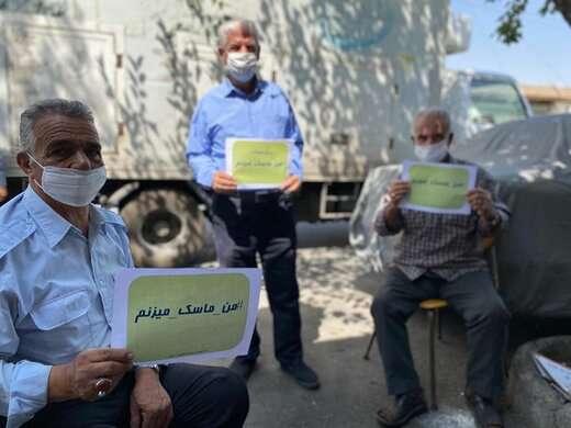 آغاز پویش «من ماسک میزنم» در شهرداری منطقه ۶ تبریز