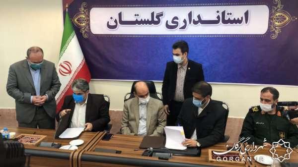 قرارداد همکاری قرارگاه خاتمالانبیاء(ص) با شهرداری گرگان امضاء شد