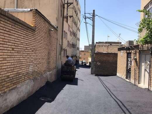 توزیع ۱۵۹۱ تن آسفالت در معابر حوزه شهرداری منطقه ۱۰ تبریز
