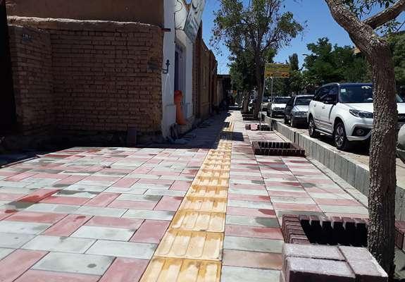 پیاده روسازی خیابان شهدا شهر سربیشه