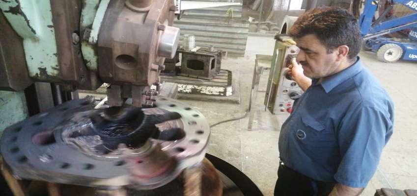 ساخت قطعات دوار بوستر پمپ در نیروگاه رامین اهواز