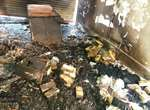تعمیرگاه لوازم برقی در آتش سوخت