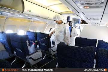 ضدعفونی ناوگان هما بر اساس استاندارهای بینالمللی/ هواپیماها هر شب گندزدایی میشوند