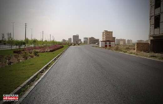 احداث خیابان های جدید در شهرک خاوران به طول ۴.۵کیلومتر