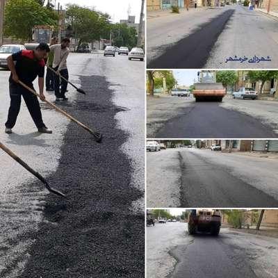 آغاز عملیات اجرایی پروژه لکه گیری آسفالت معابر سطح شهر توسط شهرداری خرمشهر