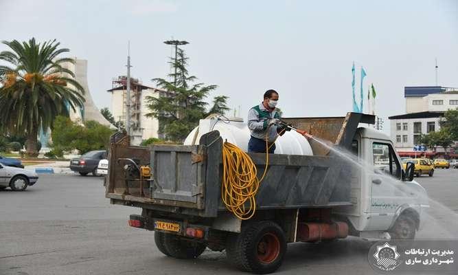 مانور عملیاتی ضدعفونی معابر و خیابانهای سطح شهر انجام شد