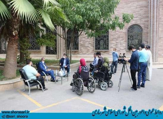 دومین دیدار معلولان با رئیس شورای اسلامی شهر ساری