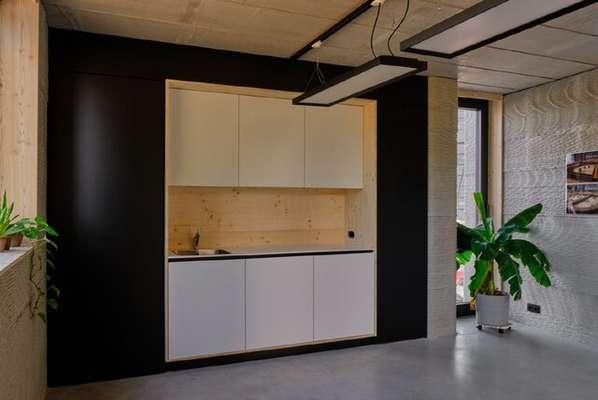ساخت خانه دو طبقه توسط چاپگر سه بعدی