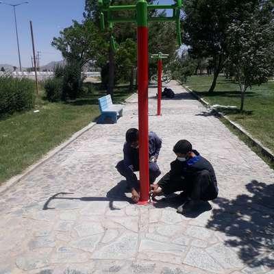 نصب ست بدنسازی در پارک فجر