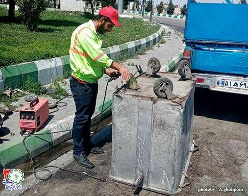 تعمیر و بازسازی باکسهای زباله سطح حوزه منطقه ۳