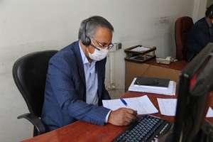 حضور مدیرکل راه و شهرسازی استان در مرکز سامد و پاسخگویی از طریق سامانه تلفنی 111