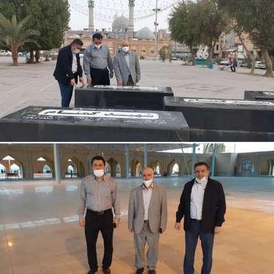 تجدید میثاق محمود دلف لویمی شهردار منتخب خرمشهر با شهدا