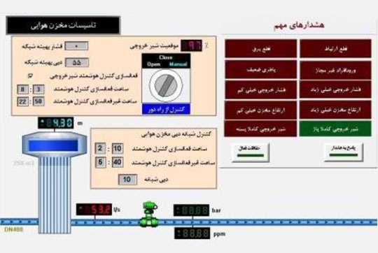 طراحی و اجرای کنترل اتوماتیک دبی وروردی به شبکه توزیع آب شهر رضوانشهر