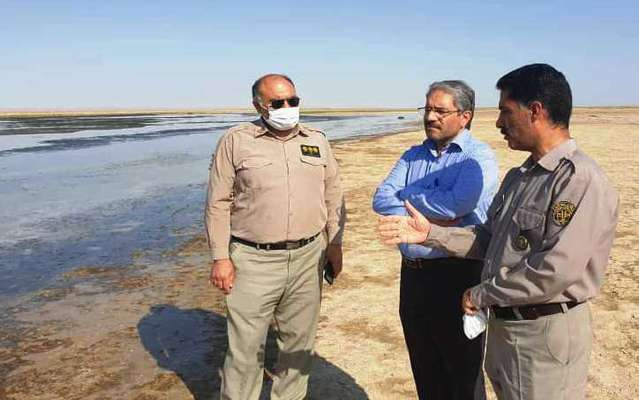 بازدید معاون سازمان حفاظت محیط زیست از تالاب بین المللی گاوخونی
