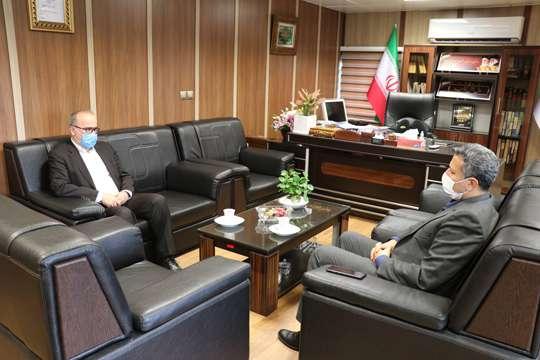 دیدار فرماندار شهرستان املش با مدیرعامل شرکت آب و فاضلاب استان گیلان
