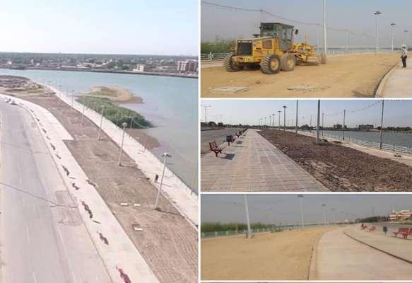 پارک جدید الاحداث ساحلی خاک آن جهت ایجاد فضای سبز توسط شهرداری خرمشهر آماده شد