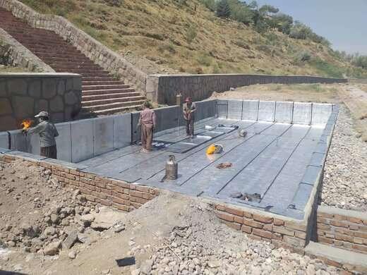 احداث آبنما در پروژه پارک جدید الحداث کلانترباغی توسط شهرداری منطقه ۱