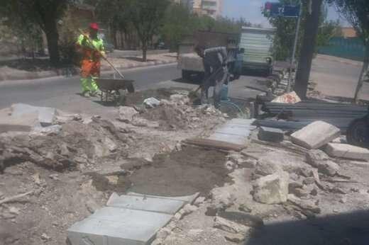 ترمیم و تعویض دو پل در معابر شهرداری منطقه ۲