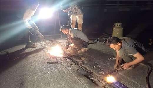اجرای عملیات اصلاح و تعمیر درزهای انبساطی پل ها در منطقه ۶