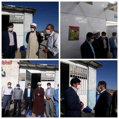 بازدید جمعی از مسئولین از کشتارگاه شهرداری