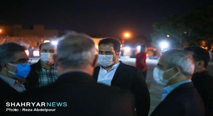 ارک تبریز، صحنه نورافشانی در شب عید قربان