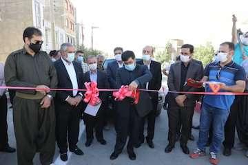 افتتاح سه پروژه بازآفرینی شهری در کردستان