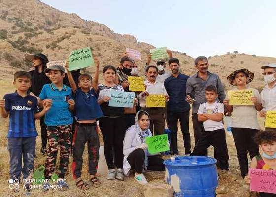 ساخت آبشخور برای حیات وحش توسط شکارچیان در کهگیلویه وبویراحمد