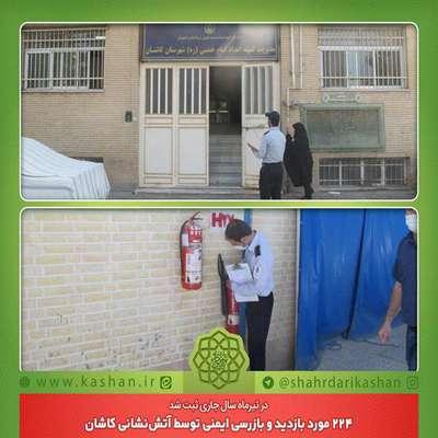 224 مورد بازدید و بازرسی ایمنی توسط آتشنشانی کاشان