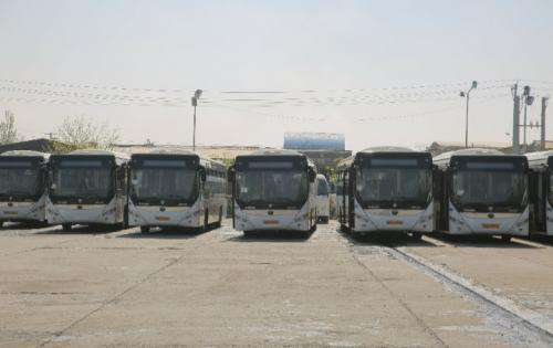 به کارگیری اتوبوس های جدید الورود یورو پنج