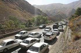 ترافیک سنگین در جاده چالوس/هراز و چالوس یکطرفه می شود