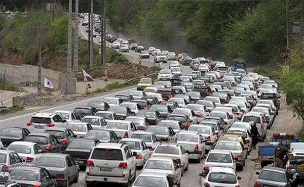 افزایش حجم بار ترافیکی از ساعت ۱۷/ ترافیک نیمه سنگین در محورهای شمالی کشور