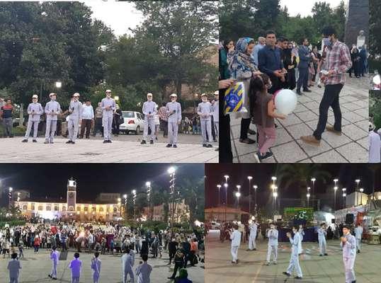 به مناسبت عید غدیر اجرای سرود پاتوقی در سبزه میدان  و پیاده راه فرهنگی