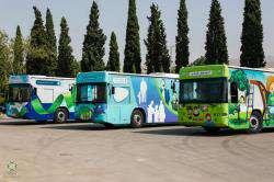 شهرداری شیراز از ۶ دستگاه اتوبوس اجتماعی رونمایی کرد