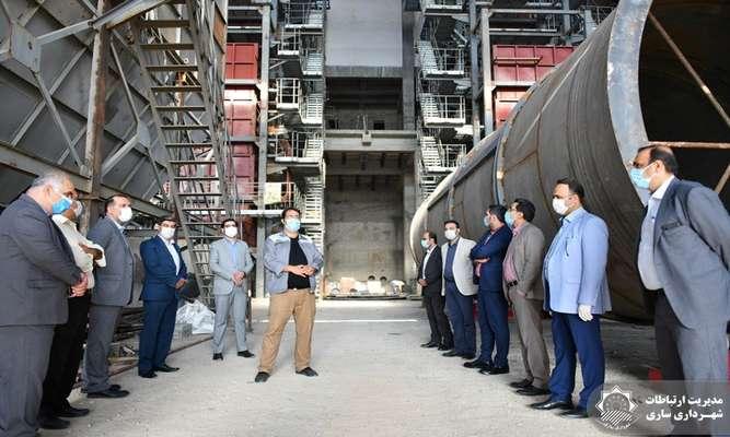بازدید جمعی از مدیران شهرداری ساری از روند اجرای پروژه نیروگاه زباله سوز
