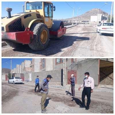 عملیات زیرسازی خیابان شهید زینلی