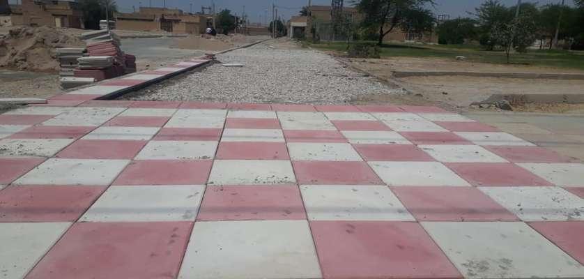 عملیات اجرایی کفپوش گذاری و احداث پیاده رو پارک النصر