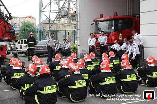 برگزاری آزمون سری نخست عملی و تئوری  نیرو های جدید الورود سازمان آتش نشانی رشت / آتش نشانی رشت