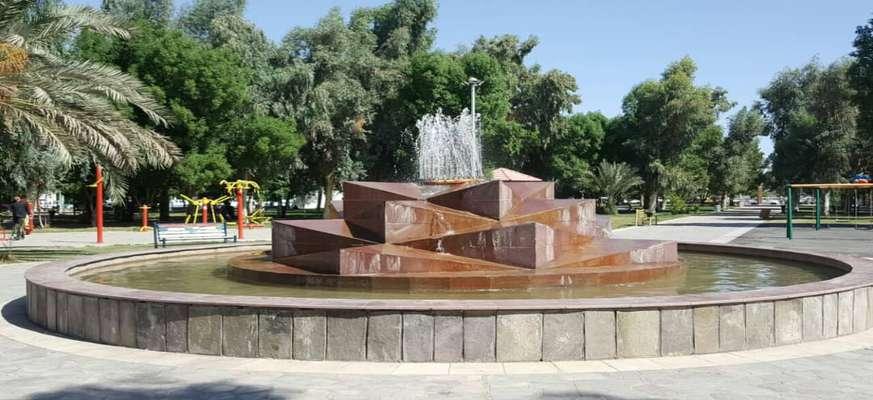 فعال سازی آبنمای پارک بیان توسط شهرداری خرمشهر