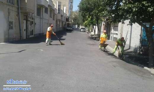 جاده صنعت و شهید مدنی از انواع پسماند پاکسازی شدند