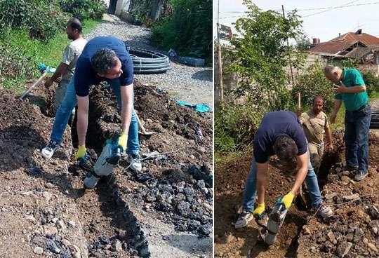 توسعه شبکه آب در روستای دیو دره رودسر