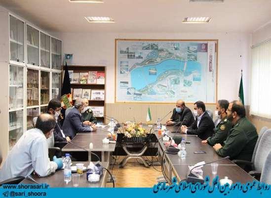 جلسه بررسی و پیگیری روند احداث پارک موزه دفاع مقدس با حضور رئیس شورای اسلامی شهر ساری
