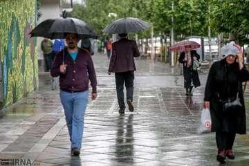 تداوم بارش باران در نیمه شمالی کشور